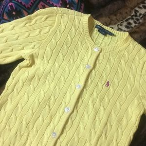 BNWOT Polo RL Classic Cable Knit ButtonUp Cardigan